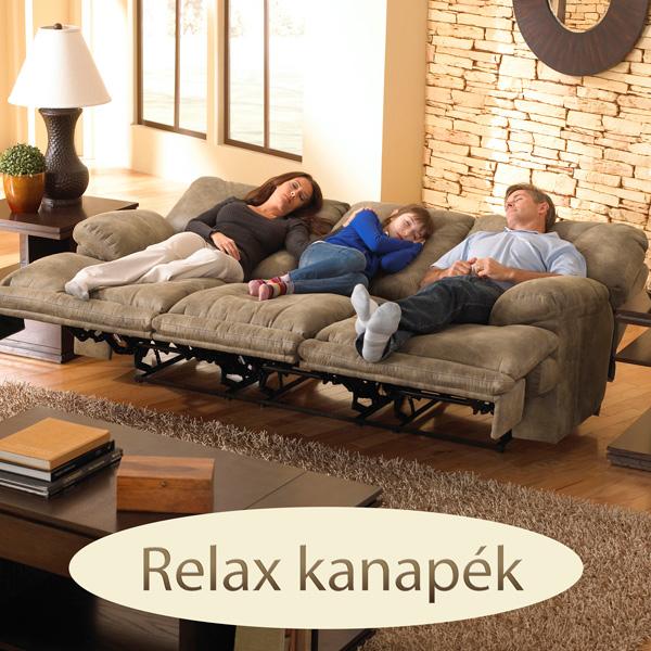 Relax kanapé lábtartós, dönthető hát, 3 2 1 ülőgarnitúrákhoz