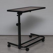 Állványos asztal barna asztallappal felállás segítő fotelhez raktárból