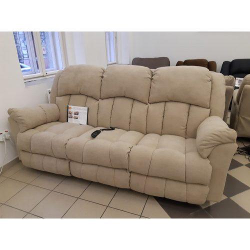 Gilmore 3 szem. motoros full relax kanapé bézs színű kárpittal raktárról