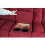 Gilmore 2 személyes italtartós relax kanapé motoros opcióval
