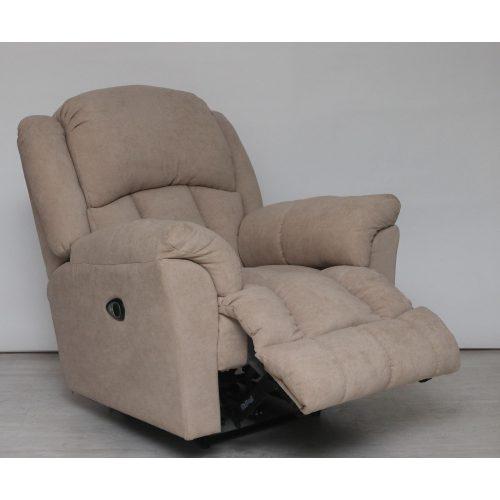 Gilmore görgős talpú motoros TV fotel Bronx Camel bézs színű szövet kárpittal raktárról