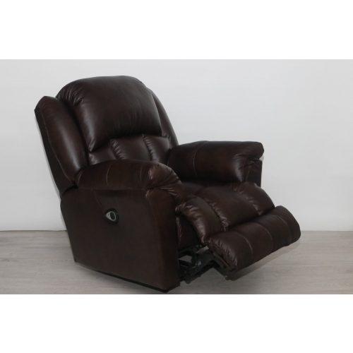 Gilmore fix talpú motoros TV fotel dió színű valódi bőr kárpittal raktárról