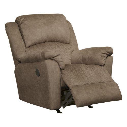 Malloy hintáztatható motoros TV fotel extra kényelmes üléssel - steppelt őzbarna Microfiber kárpittal raktárról