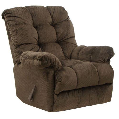 Nettles hintáztatható masszázs TV fotel csokoládébarna kárpittal
