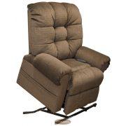 Omni amerikai XXL felállás segítő fotel barna kárpittal