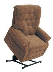 Patriot felállás segítő TV fotel őszi barna színű szövettel raktárról
