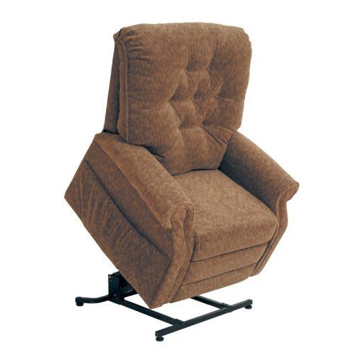 Patriot felállás segítő fotel őszi barna színű szövettel raktárról