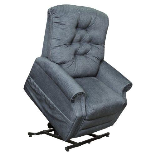 Patriot felállás segítő fotel kékesszürke színű szövettel raktárról
