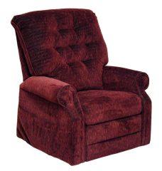 Patriot felállás segítő senior TV fotel burgundi vörös színű szövettel