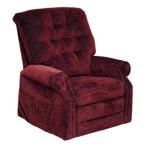 Patriot felállás segítő fotel burgundi vörös színű szövettel