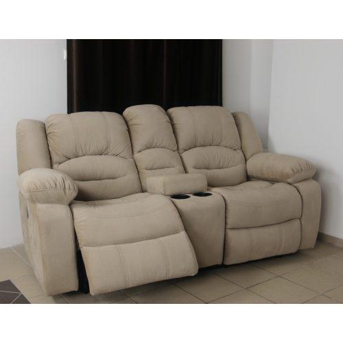 Tessin 2 személyes italtartós relax kanapé