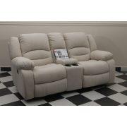 Tessin 2 személyes motoros mozis relax kanapé Loca világos beige microszálas szövet kárpittal raktárról