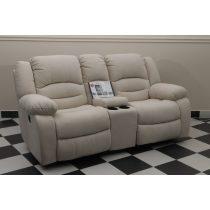 Tessin 2 személyes italtartós motoros relax kanapé raktárról