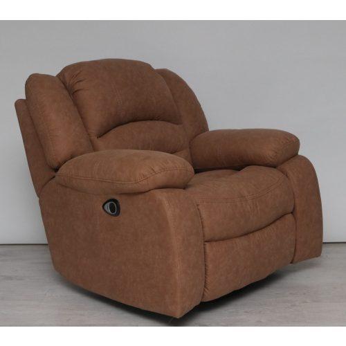 Tessin forgó - hintázó motoros TV fotel Mira barna színű víztaszító szövet kárpittal raktárról