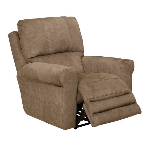 Vance hangvezérléses mozi fotel motoros deréktámasszal és fejtámlával - őzbarna Microfiber kárpittal raktárról