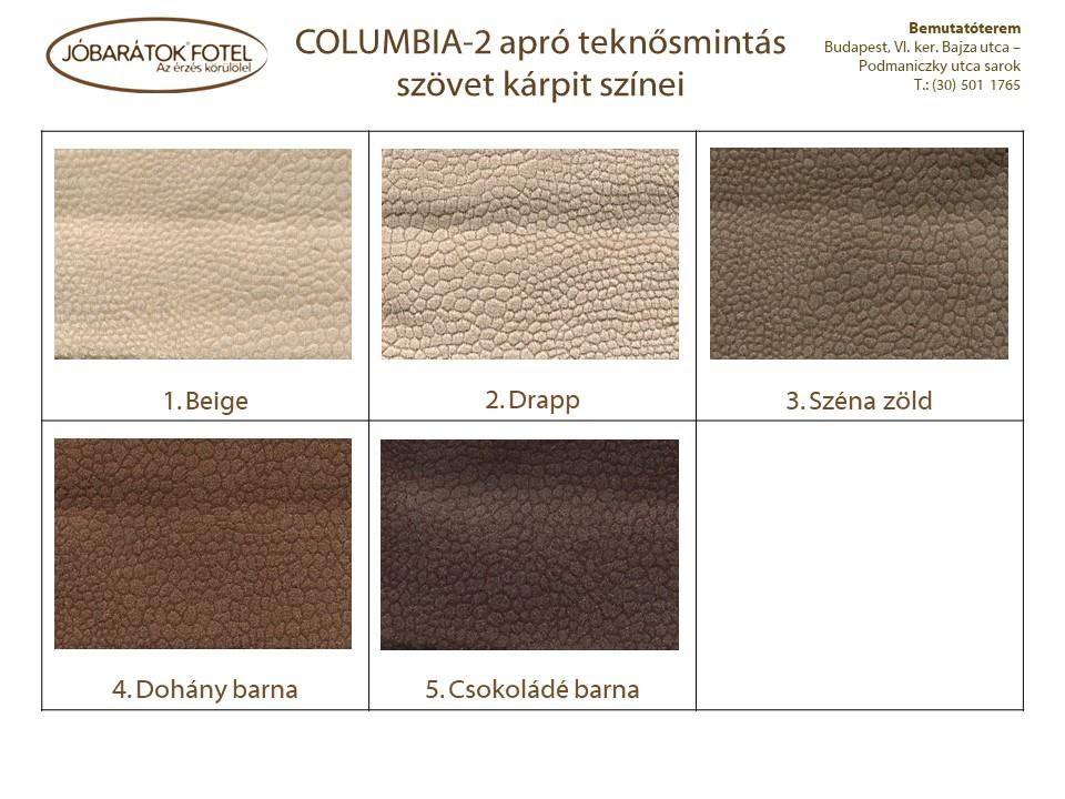 Columbia szinek