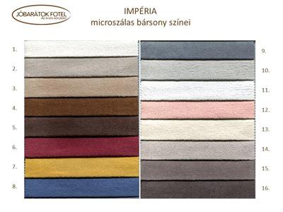 Imperia microszálas bársony szinek