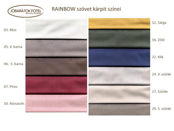 Rainbow szövet szinek