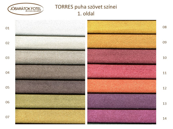 Torres szinek
