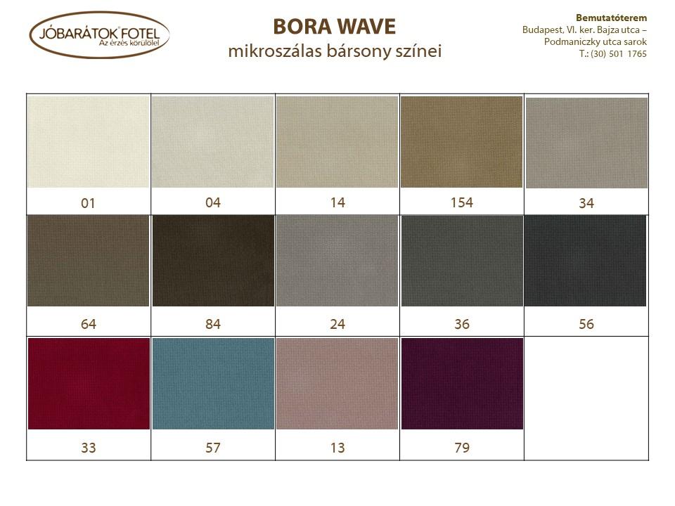 Bora Wave szinek