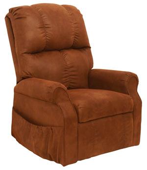 Somerset senior TV fotel mahagóni színű textilbőr kárpittal