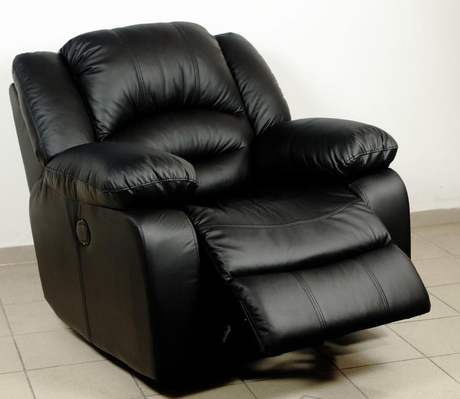 Tessin valódi bőr kárpitozású relax fotel