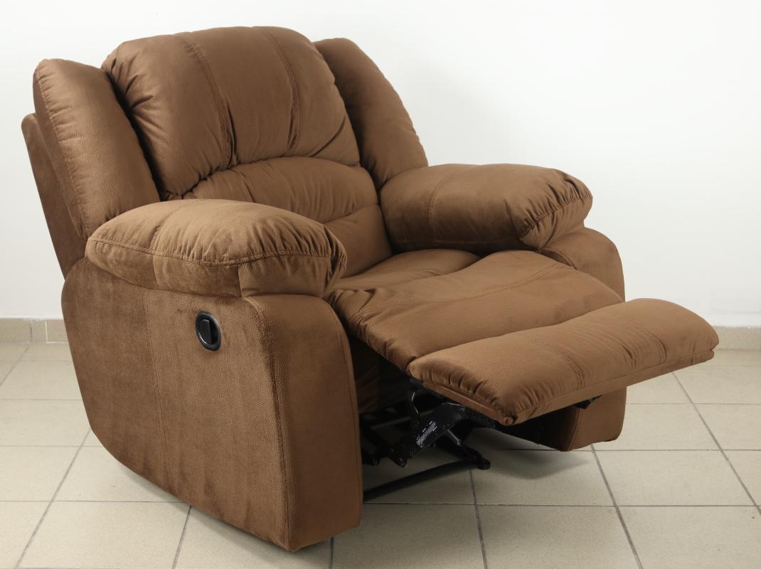 Texan kézi működtetésű TV fotel dohánybarna