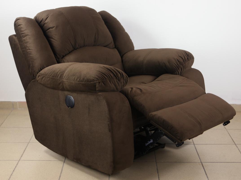 Texan motoros TV fotel csokoládébarna